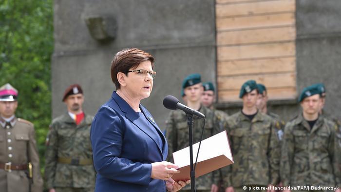 Polish Prime Minister Beata Szydlo uses Auschwitz speech to defend refugee reticence