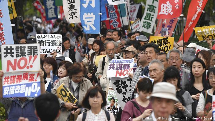 Japan Protest gegen Anti-Terror-Gesetz in Tokio