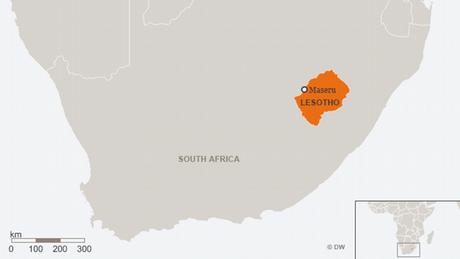 Karte Lesotho ENG