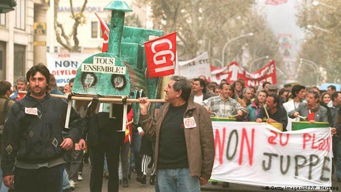 Frankreich Gewerkschaft Proteste (Getty Images/AFP/P. Hertzog)