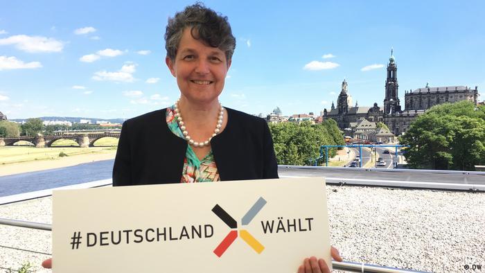 BTW Sommerreise Bürgerstimmen Dresden Kirsten Muster (DW)