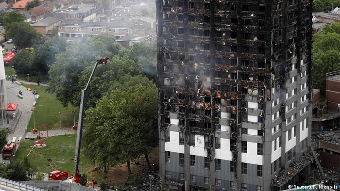 Наслідки пожежі у Лондоні в Grenfell Tower