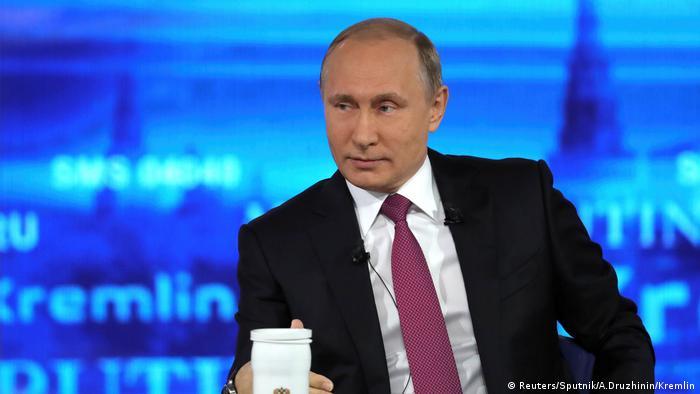 Russsland Bürgersprechstunde mit Wladimir Putin (Reuters/Sputnik/A.Druzhinin/Kremlin)