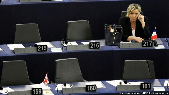 Marine Le Pen in the European Parliament (picture alliance/CITYPRESS 24/Cegarra)