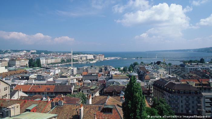 Schweiz   Genf Übersicht (picture alliance/Arco Images/Photopress)