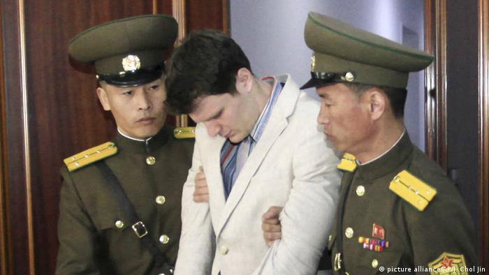 Nordkorea lässt US-Bürger Otto Warmbier frei (picture alliance/AP/J. Chol Jin)