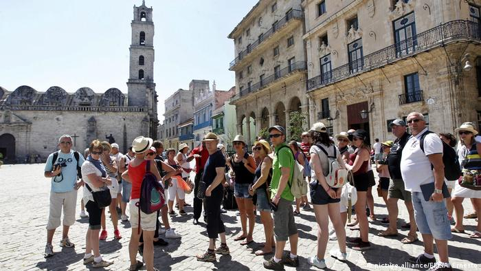 US tourists in Old Havana