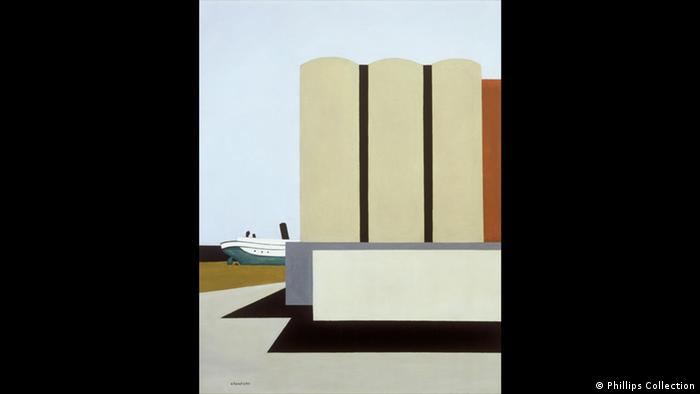 Ralston Crawford Schiff und Getreidesilos 1942 (Phillips Collection)