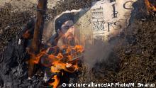 Abu Bakr al-Baghdadi Bildnis in Flammen