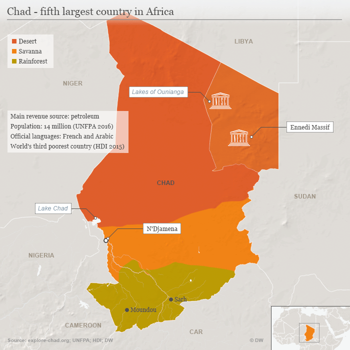 Boko Haram Kills Eight Soldiers From Chad Africa DW - Largest country in africa