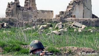 Sniper on the lookout. Army of Nagorno-Karabakh.