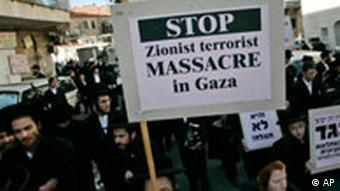 Proteste Orthodoxer Juden von Naturei Karta in Israel gegen Gazakrieg