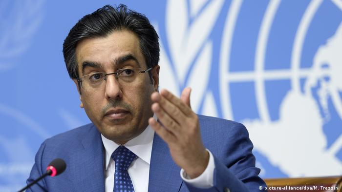 Schweiz UN Genf Ali bin Schmaich al-Marri zur Lage in Katar (picture-alliance/dpa/M. Trezzini)