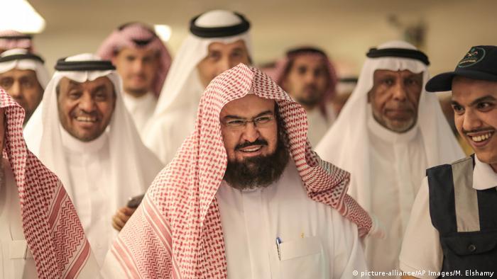 Abdurrahman ibn Abdulaziz as-Sudais Imam und Koranrezitator von Mekka (picture-alliance/AP Images/M. Elshamy)