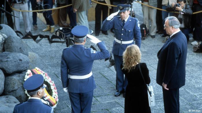 Primera visita de Helmut Kohl a Israel en 1984.