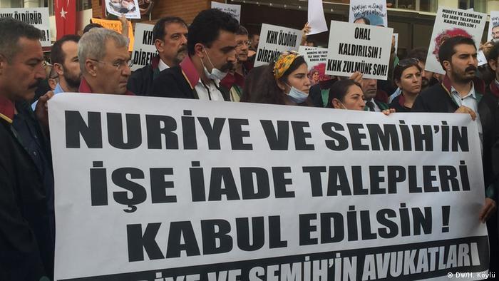Açlık grevinin 100'üncü gününde Gülmen ve Özakça'ya destek gösterileri