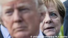 German Chancellor Angela Merkel and US President Donald Trump at G7 Summit in Sicily (picture-alliance/dpa/ M. Kappeler)
