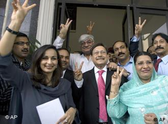 Sherry Rehman, Pakistan's ambassador to the US, with other PPP officials