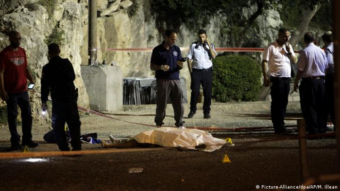 Israeli policewoman lies dead after a stabbing attack (Picture-Alliance/dpa/AP/M. Illean)