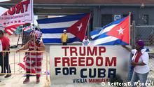 USA Kuba Unterstützung für US-Präsident Donald Trump