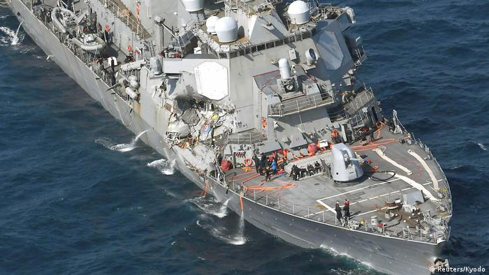 The Arleigh Burke-class guided-missile destroyer USS Fitzgerald (Reuters/Kyodo)