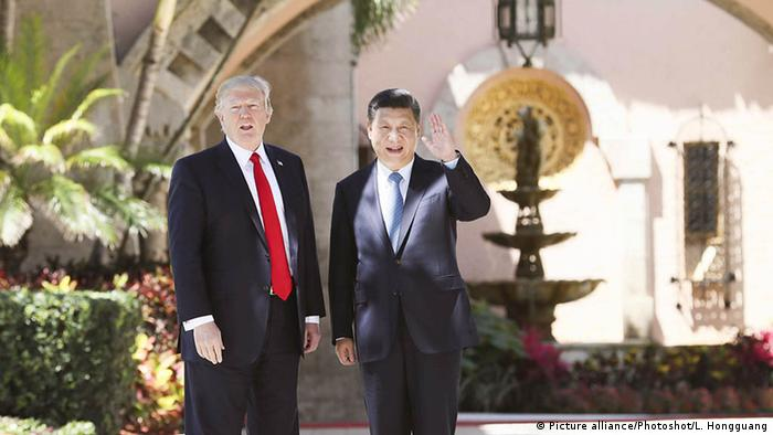 USA China Donald Trump und Xi Jinping (Picture alliance/Photoshot/L. Hongguang)