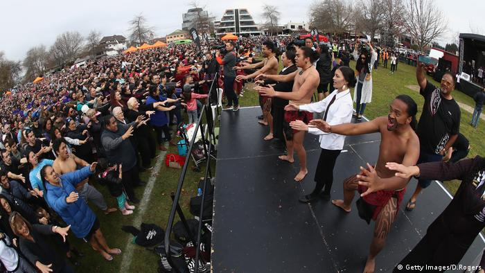 Haka Weltrekord Neuseeland (Getty Images/D.Rogers)