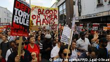 England London Protest Grenfell Tower Feuer