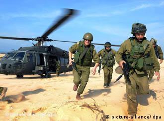 Από ασκήσεις ισραηλινών στρατιωτών (Ιανουάριος 2009)