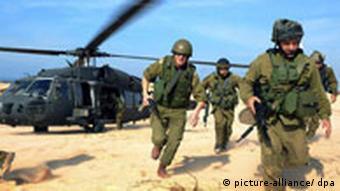 Gaza - israelische Soldaten
