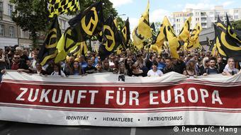 Από διαδήλωση του Κινήματος των Ταυτοτικών στο Βερολίνο