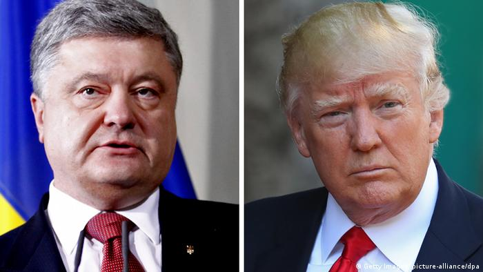 Bildkombo Petro Poroschenko / Donald Trump (Getty Images, picture-alliance/dpa)