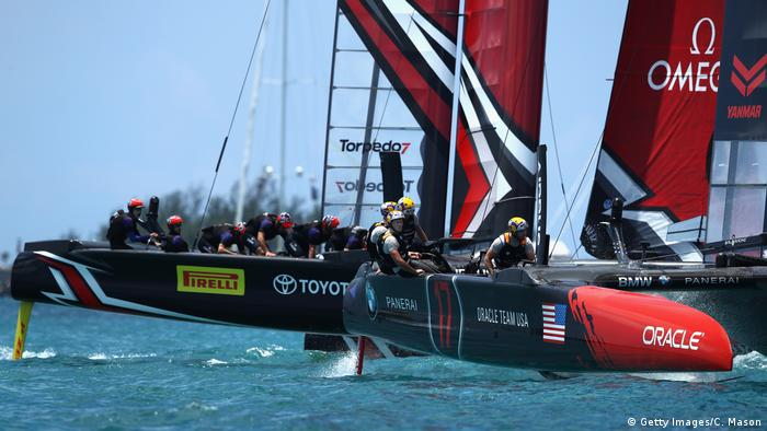 Die US Yacht des Teams Oracle. Foto: Getty Images