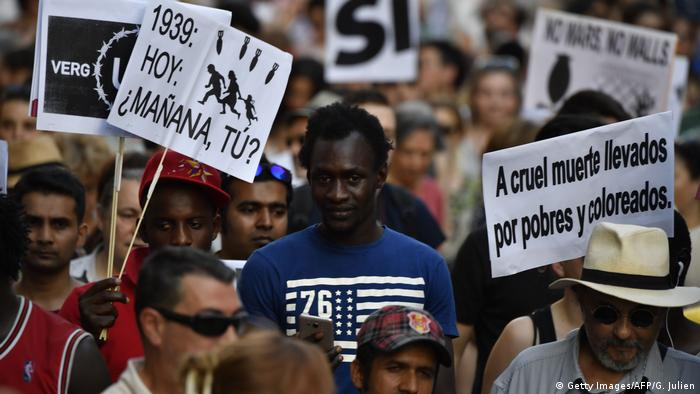 Spanien March for Refugees (Getty Images/AFP/G. Julien)