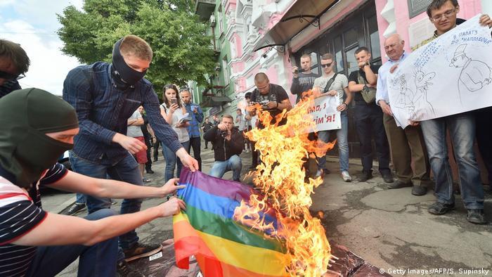 Противники Маршу рівності у Києві (архівне фото)