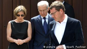 Η δεύτερη σύζυγος του Κολ, Μάικε. μαζί με τον επικεφαλής της Εβραϊκής Κοινότητας Φραγκφούρτης και τον πρώην αρχισυντάκτη της Bild