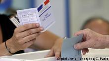 Frankreich Parlamentswahlen 2. Runde Wahllokal