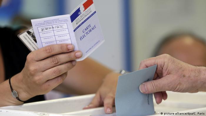 Голосование на избирательном участке во Франции