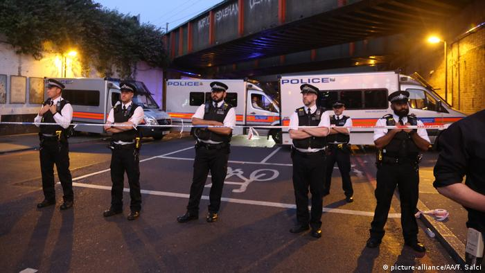 One killed after van crashes into pedestrians in London