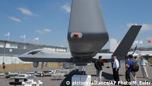 Frankreich Le Bourget Luftfahrtmesse Wing Loong II Drone