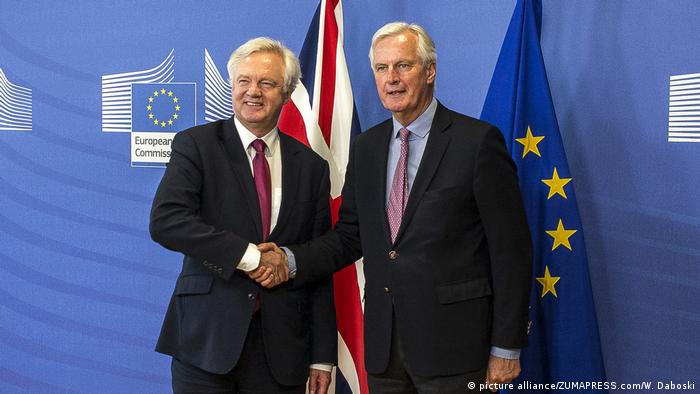 British Brexit Secretary David Davis meets EU Brexit negotiator, Michel Barnier, in Brussels for the first round of Brexit negotiations.