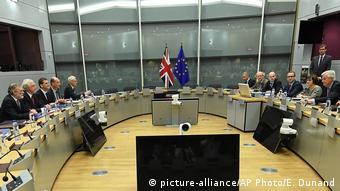 Belgien Brüssel Start der Brexitverhandlungen