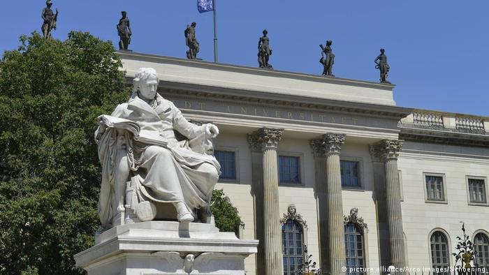 Wilhelm von Humboldt's memorial in Berlin at the Humboldt University