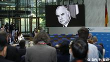 Moment of remembrance for Helmut Kohl