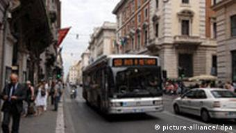 City bus in Rome