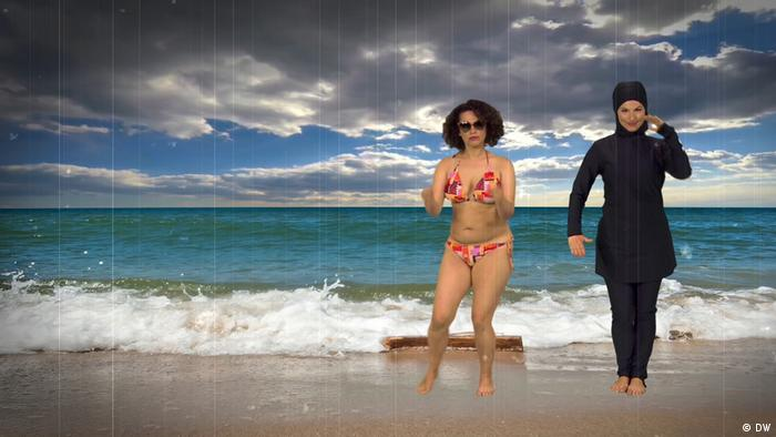Webvideo Bikini oder Burkini