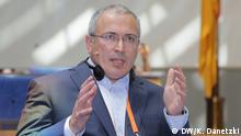 Mikhail Khodorkovsky (Founder, Open Russia, Russia) and Ingo Mannteufel (Head of Department for Russia, Ukraine and Turkey, Deutsche Welle, Germany) / Deutsche Welle Global Media Forum 2017