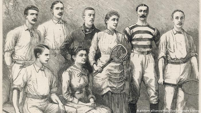 Tennis Wimbledon - Champions Gruppenfoto 1884 (picture alliance/Mary Evans Picture Library)