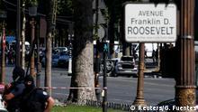 Frankreich Polizei Großeinsatz auf den Champs-Elysées in Paris