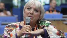 Claudia Roth (Vice President, German Parliament, Germany); Session: The significance of identity and diversity in a globalized world (DW/K. Danetzki)